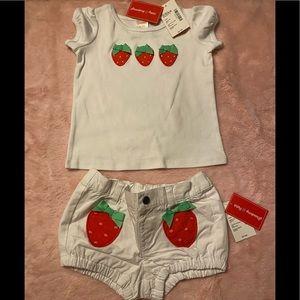Baby girls 👧 Gymboree matching set 🍓 NWT